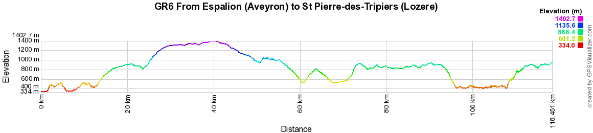 GR6 Hiking from Espalion (Aveyron) to St Pierre-des-Tripiers (Lozere) 2