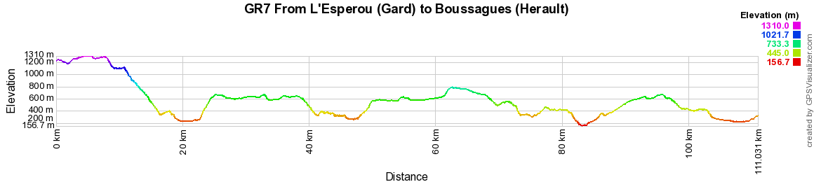 GR7 Hiking from L'Esperou (Gard) to Boussagues (Herault) 2