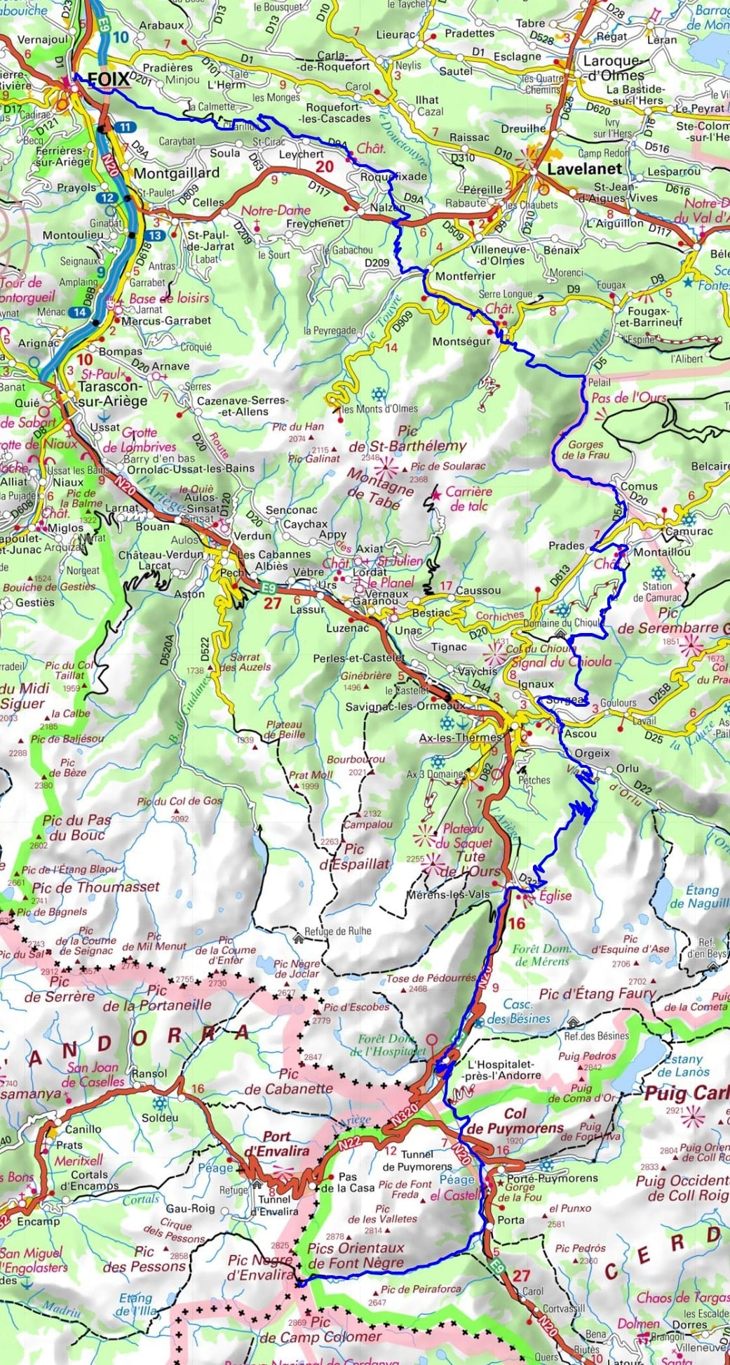 GR107 Hiking from Foix (Ariege) to Portella Blanca (Andorra-Spain) 1