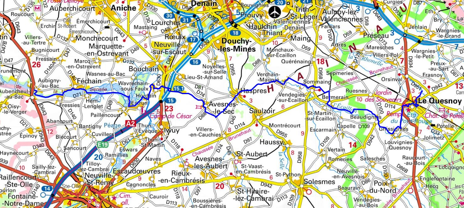 GR121C Walking from Aubigny-au-Bac to Le Quesnoy (Nord) 1