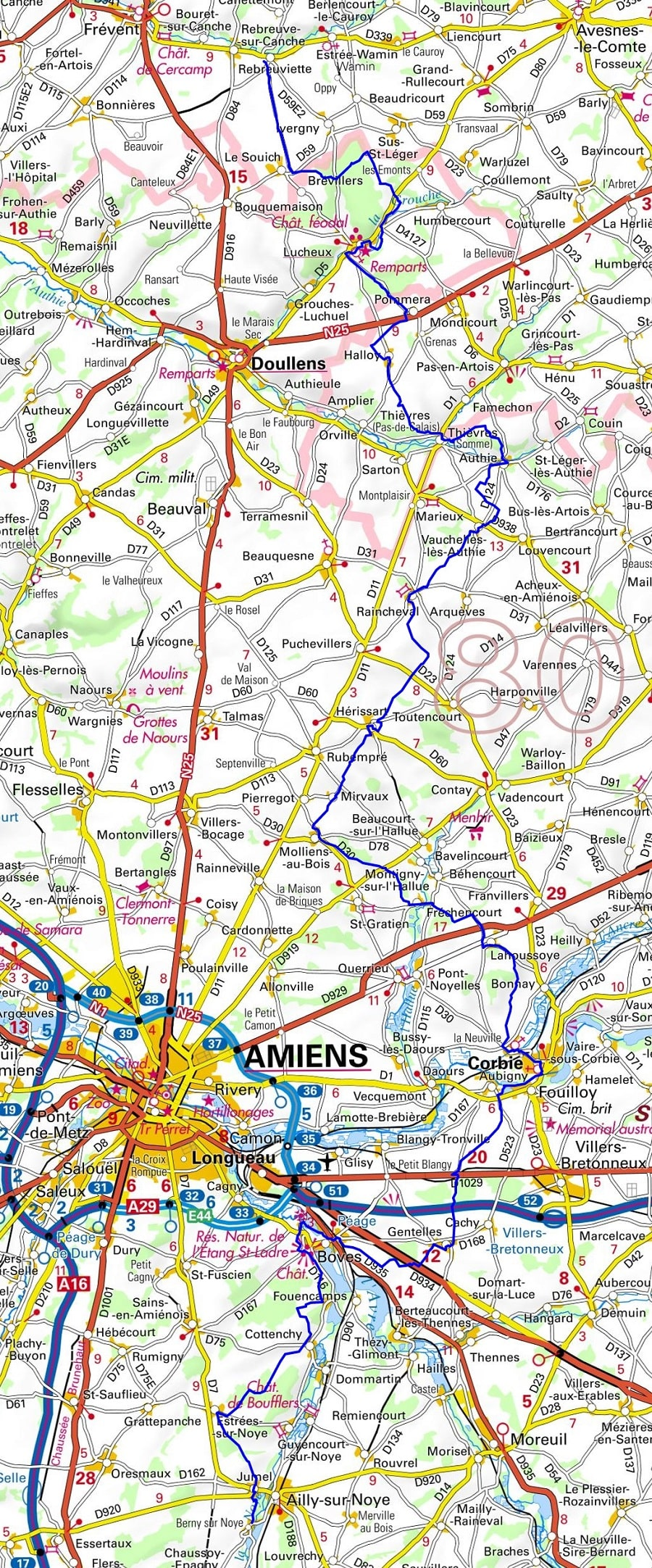 GR124 Walking from Cires-les-Mello (Oise) to Berny-sur-Noye (Somme)