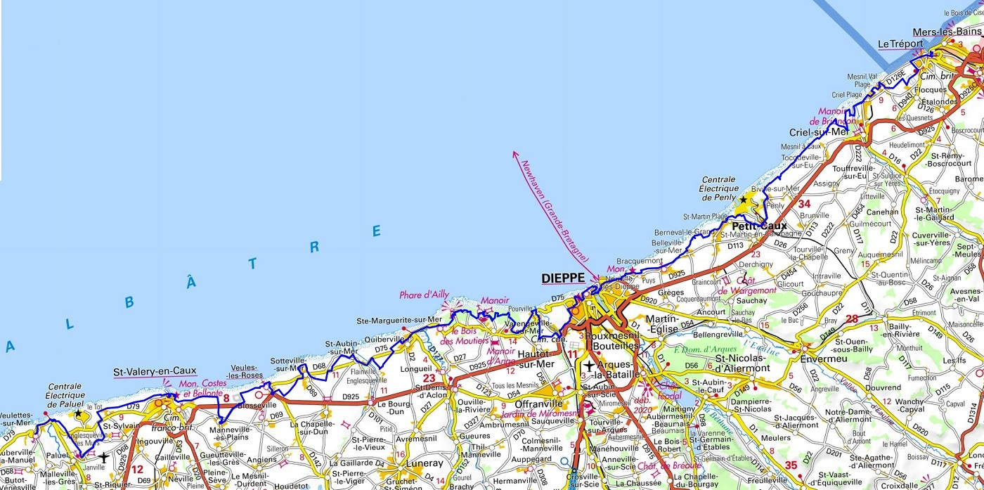 GR21 Hiking from Veulettes-sur-Mer to Le Treport (Seine-Maritime)