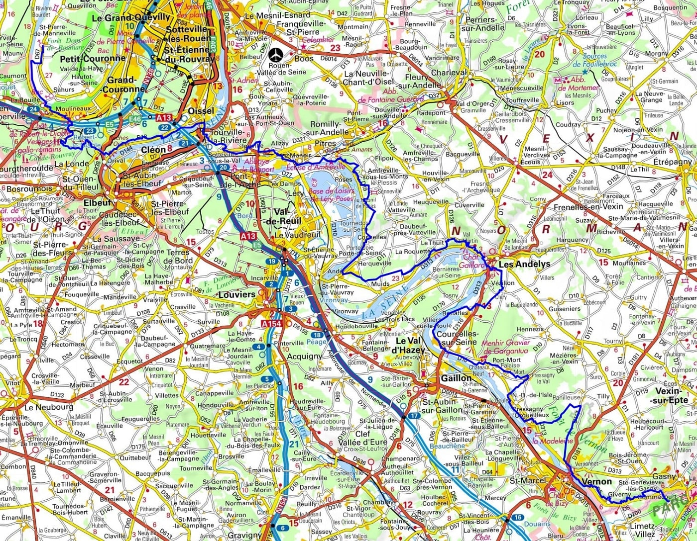 GR2 Walking from Gommecourt (Yvelines) to St Pierre-de-Manneville (Seine-Maritime)