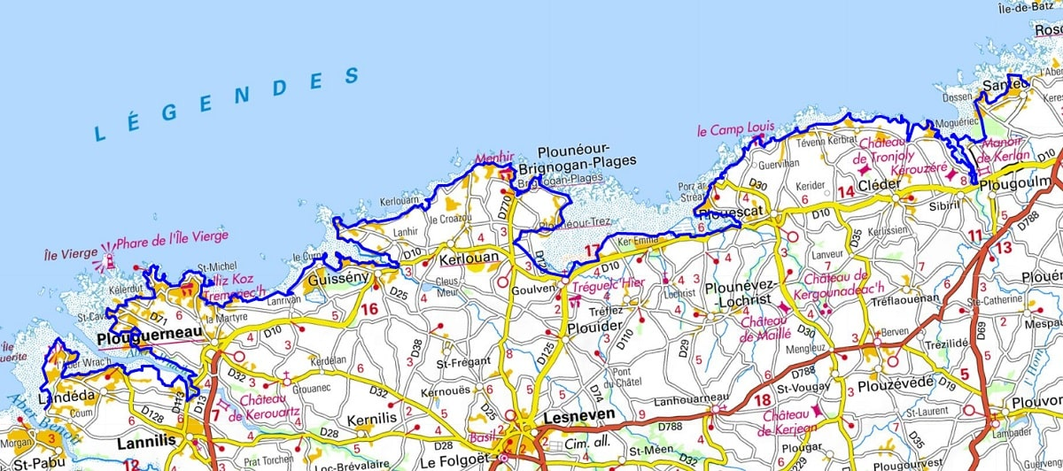 GR34 Walking from Locquirec to Santec (Finistere)