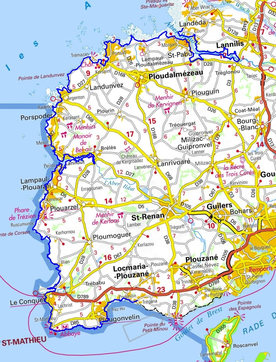 GR34 Walking from Santec to Brouennou (Finistere) 1