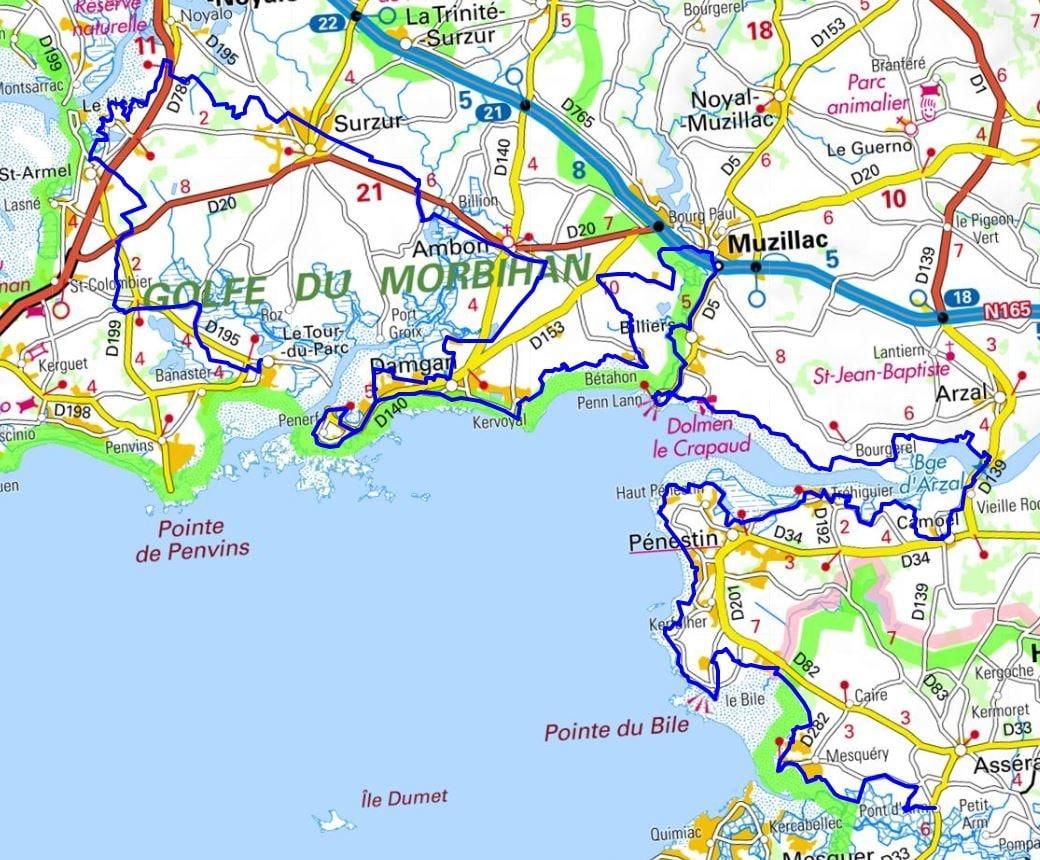 Gr34 Walking From Vannes To Le Tour Du Parc Morbihan