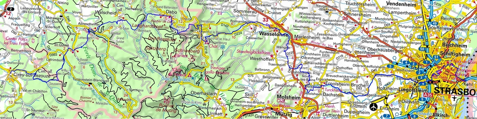 GR534 Hiking from Blamont (Meurthe-et-Moselle) to Strasbourg (Bas-Rhin)