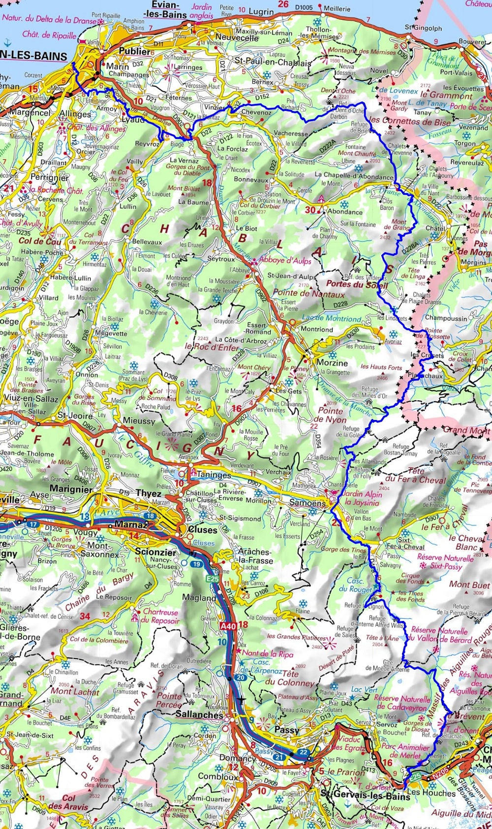 GR5 Hiking from Thonon-les-Bains to Les Houches (Haut-Savoie)