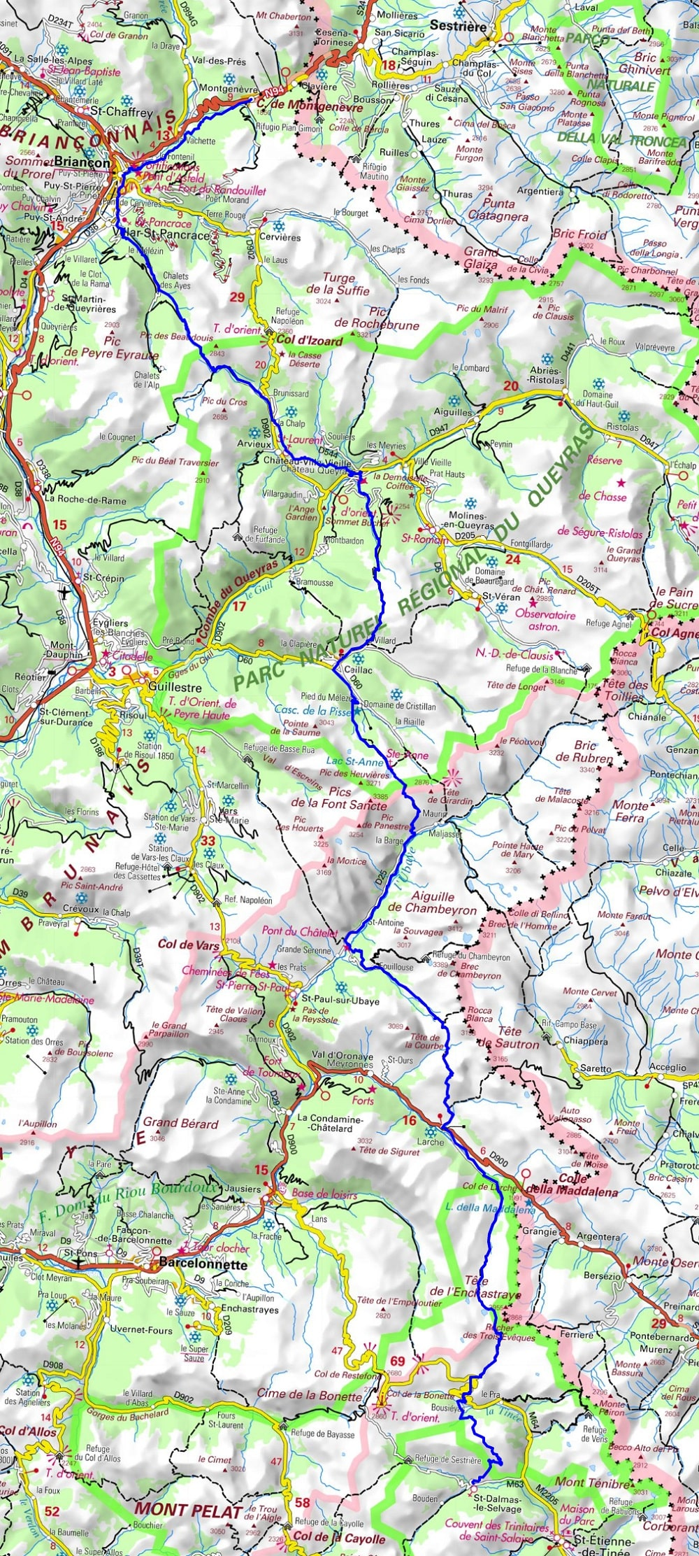 GR5 Hiking from Montgenevre (Hautes-Alpes) to St Dalmas-le-Selvage (Alpes-Maritimes)