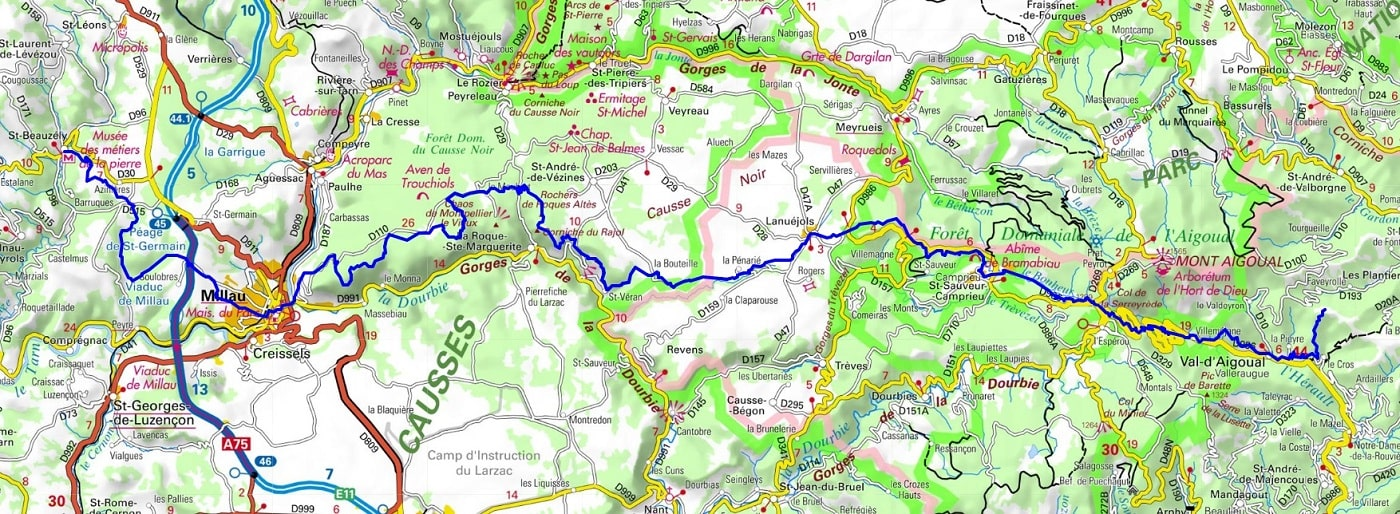 GR62 Hiking from Asclier Pass (Gard) to St Beauzely (Aveyron)