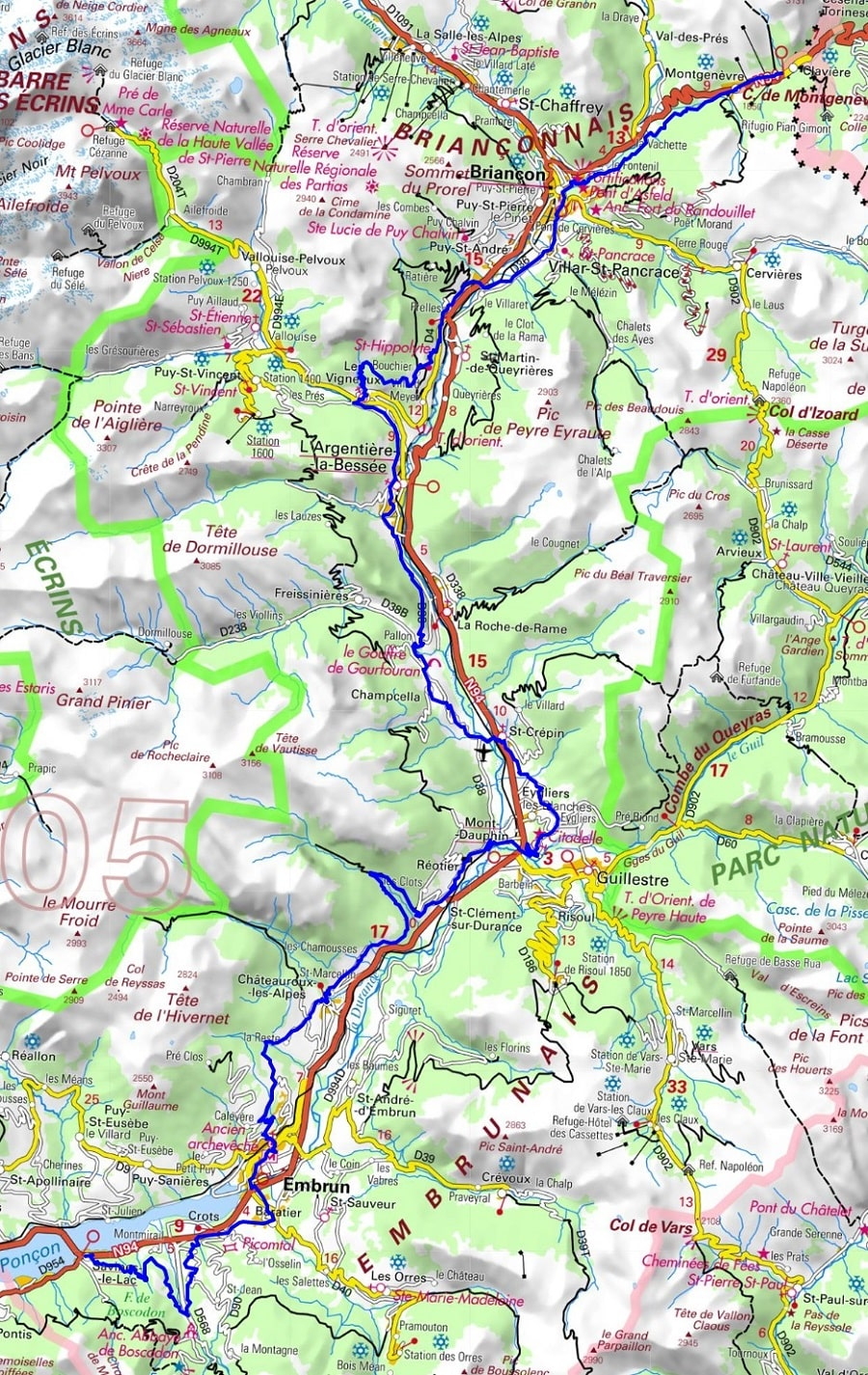 GR653D Hiking from Montgenevre to Savines-le-Lac (Hautes-Alpes)