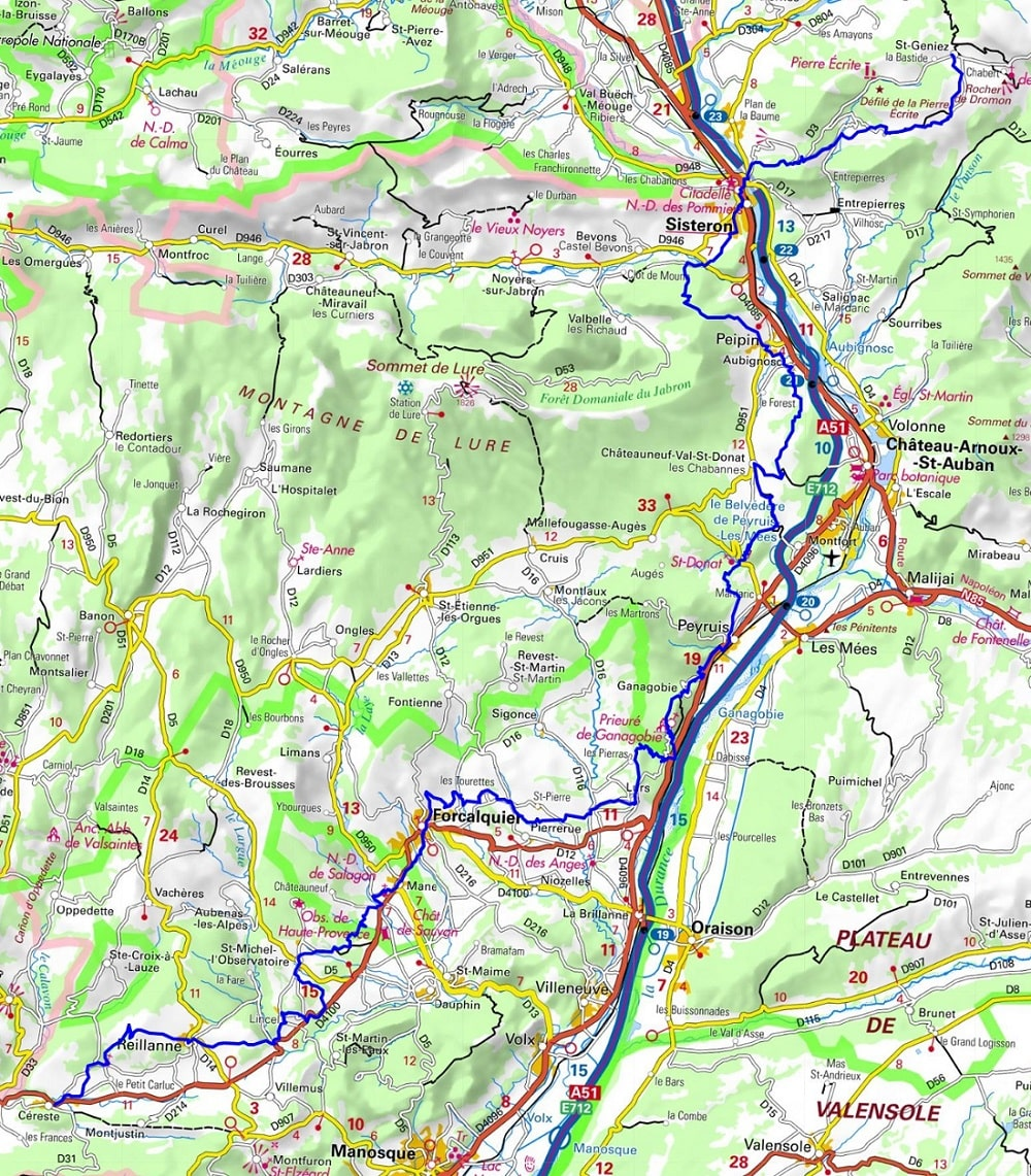 GR653D Hiking from St Geniez to Cereste (Alpes de Haute-Provence) 1