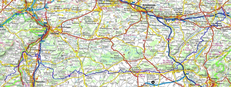 GR65 Hiking from St Genix-sur-Guiers (Savoie) to Maclas (Loire)