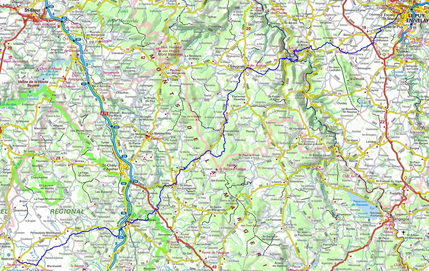 GR65 Hiking from Le Puy-en-Velay (Haute-Loire) to Nasbinals (Lozere) 1
