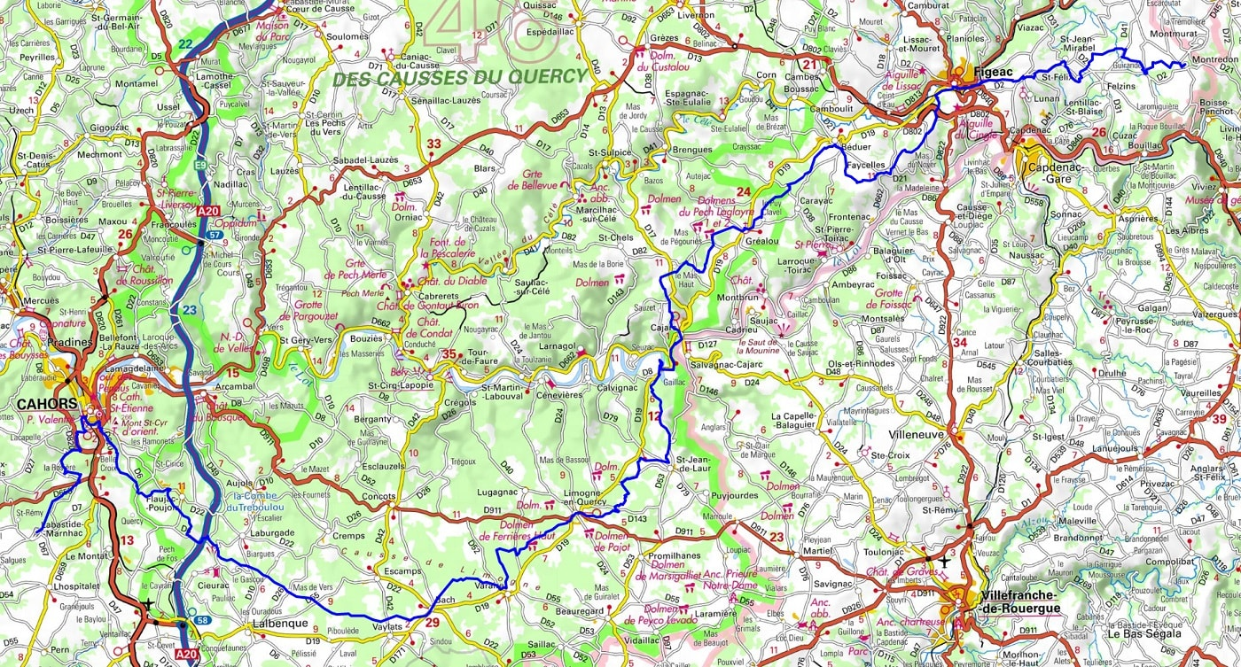 GR65 Hiking from Montredon to Labastide-Marnhac (Lot) 1