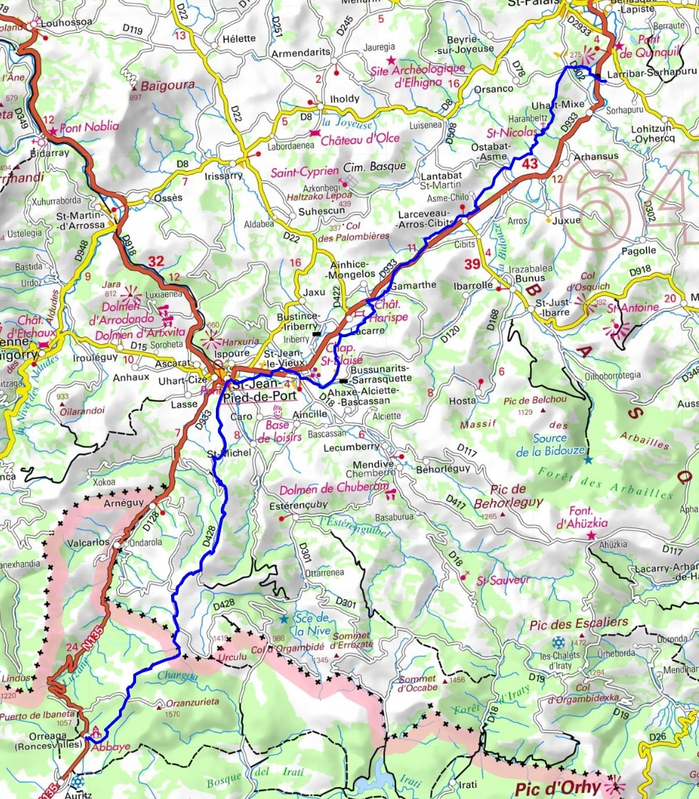 GR65 Hiking from Larribar-Sorhapuru (Pyrenees-Atlantiques) to Roncesvalles (Spain) 1