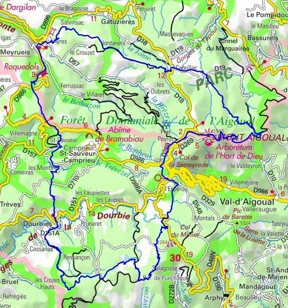 GR66 Randonnée autour du Mont Aigoual (Parc national des Cévennes)