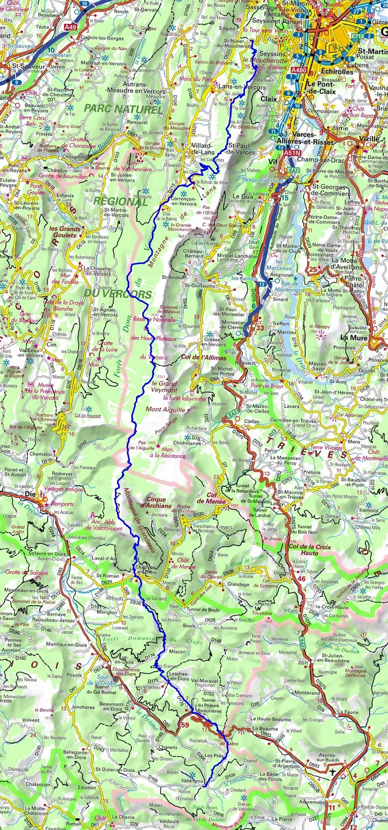 GR91 Hiking from St-Nizier-du-Moucherotte (Isere) to Valdrome (Drome) 1