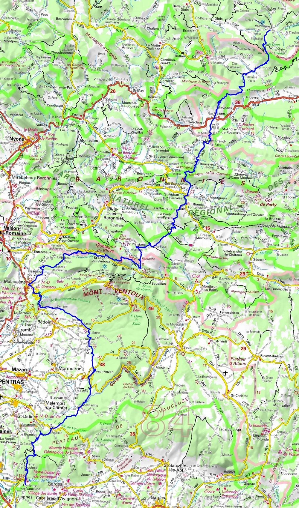 GR91 Hiking from Valdrome (Drome) to Fontaine-de-Vaucluse (Vaucluse) 1