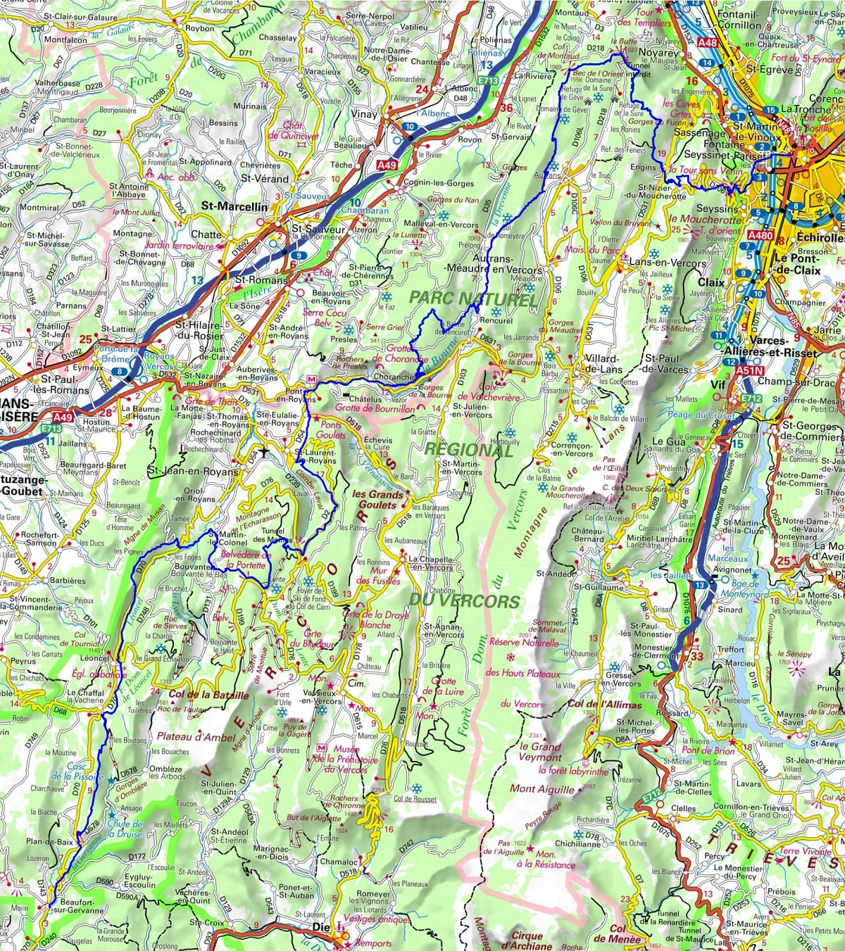GR9 Hiking from Grenoble (Isere) to Beaufort-sur-Gervanne (Drome)