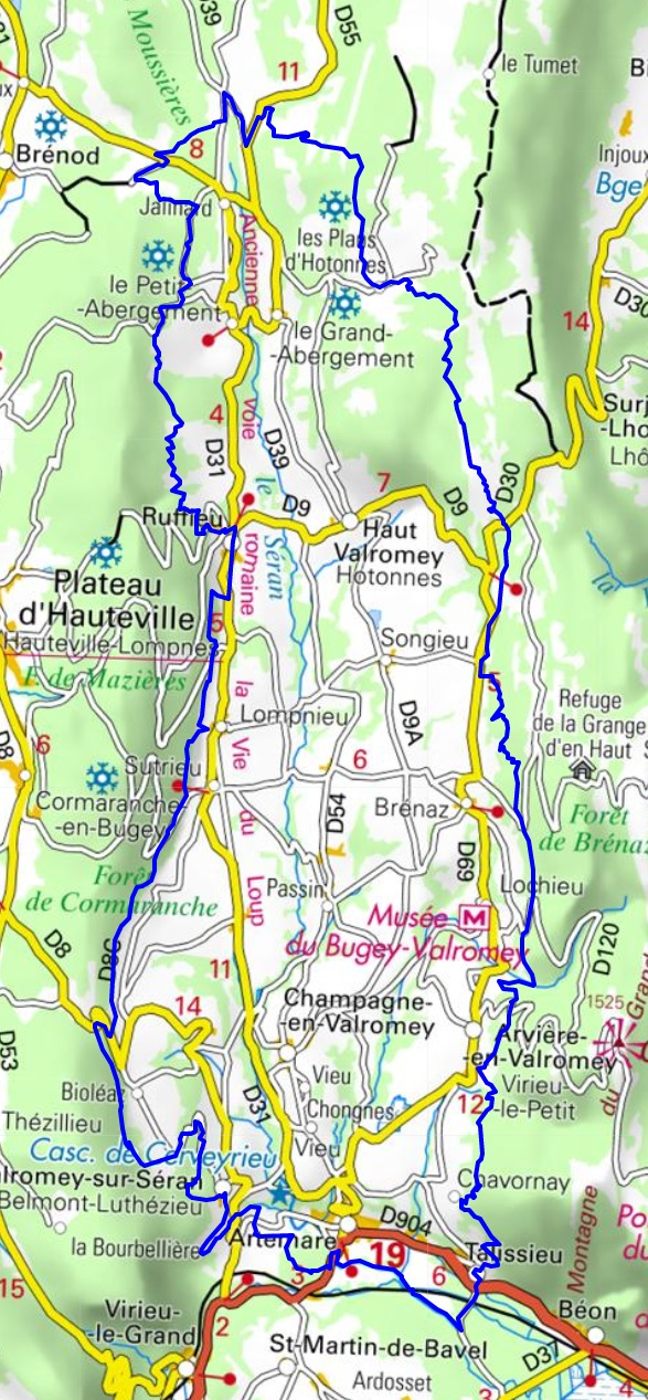 Hiking with the Tour of Balcon du Valromey (Ain) 1