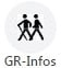 Logo GR-Infos, Chemins de Grande Randonnée (France)