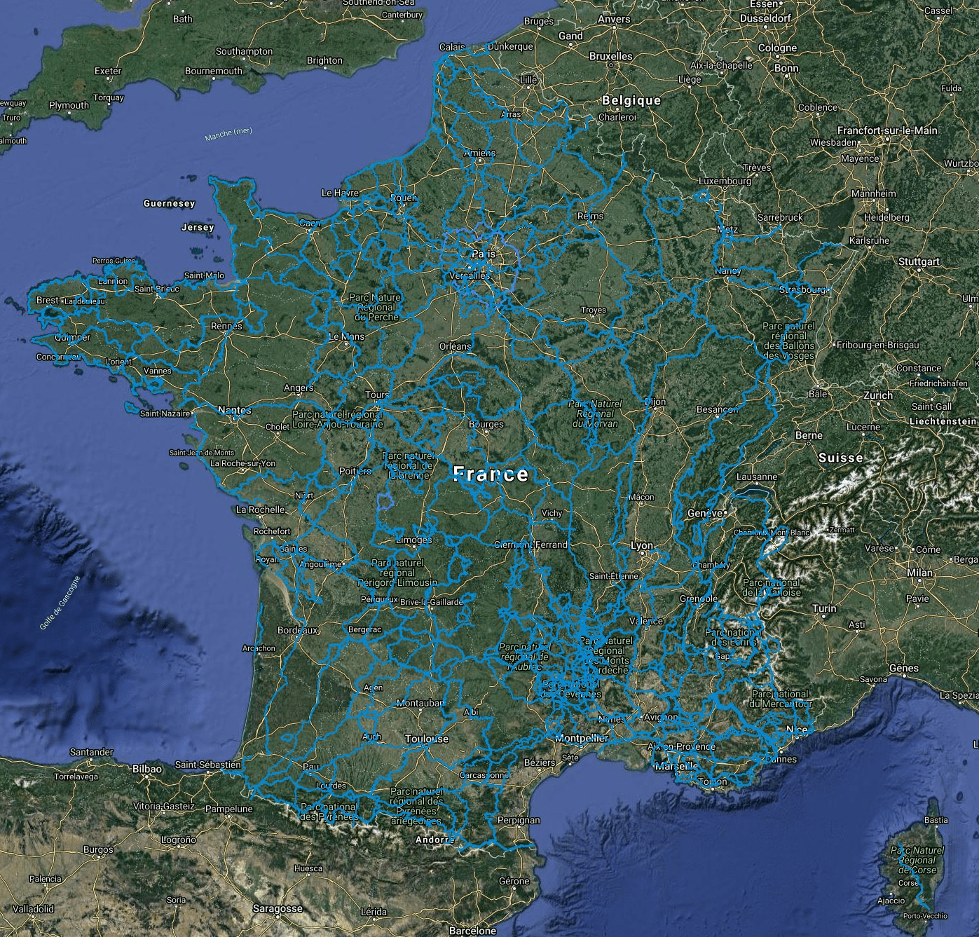GR Long-distance hiking trails in France
