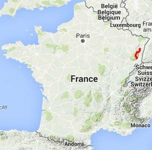 Map Of Kaysersberg France.Gr5 Hiking From Andlau Bas Rhin To Thann Haut Rhin
