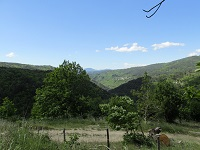 2 GR670 Urbain V trail. Hiking from Florac (Lozere) to Vezenobres (Gard)