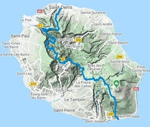 GR R2 Hiking from St Denis to Le Baril (St Philippe)  (Reunion Island) 10